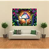 MAGIC MUSHROOMS TRIPPY GIANT PRINT PICTURE POSTER PLAKAT DRUCK G158