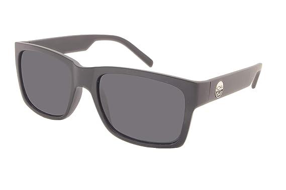 a72a96a0e72 Amazon.com  KOHV   Cotton   Matte Black Polarized Smoke Sunglasses ...