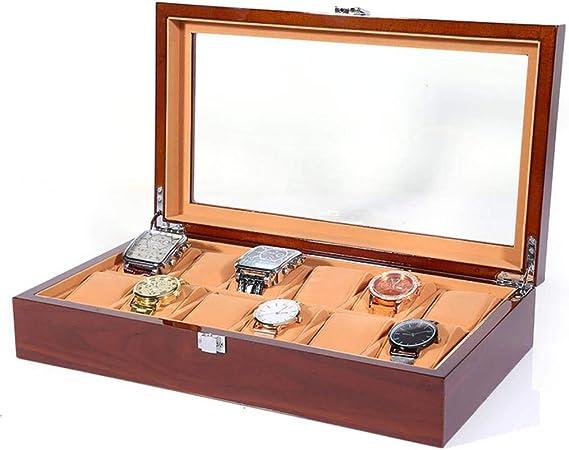 GOVD Caja para Guardar Relojes Madera Estuche relojero para Relojes, joyería, para Relojes 12: Amazon.es: Hogar