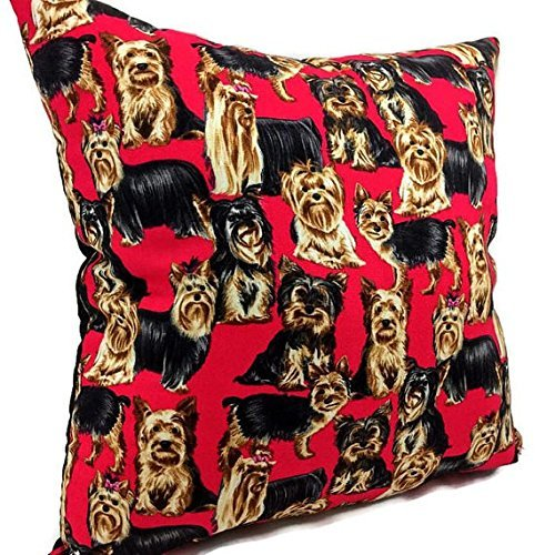 Filled Novelty Accent Throw Pillow Yorkshire Terriers Terrier Accent Pillow