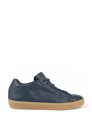 Leather Crown – Langsame Sneaker Leder, blau blau Größe
