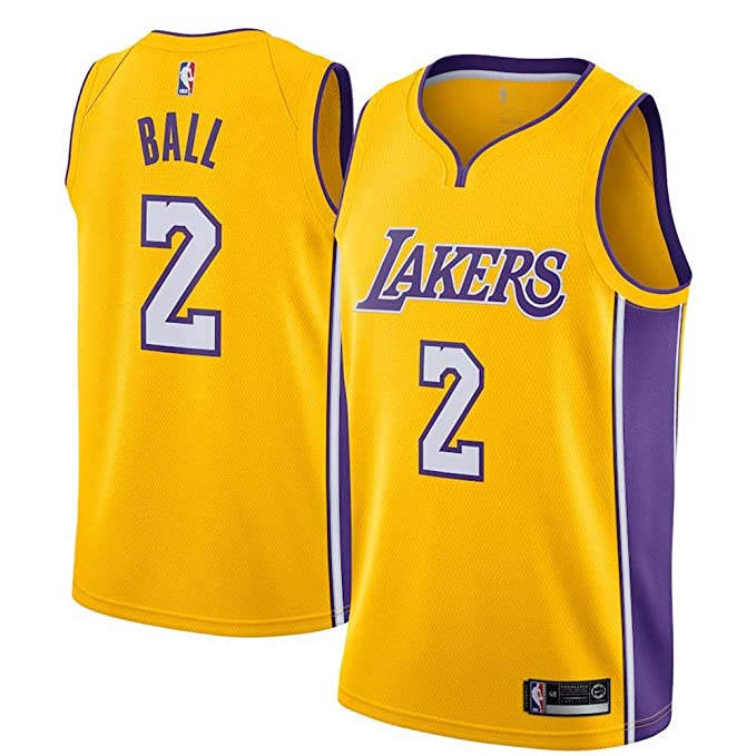 bcd71adf989be FTOA Men's Los Angeles #2 Ball Yellow Swingman Jersey - Icon Edition ...