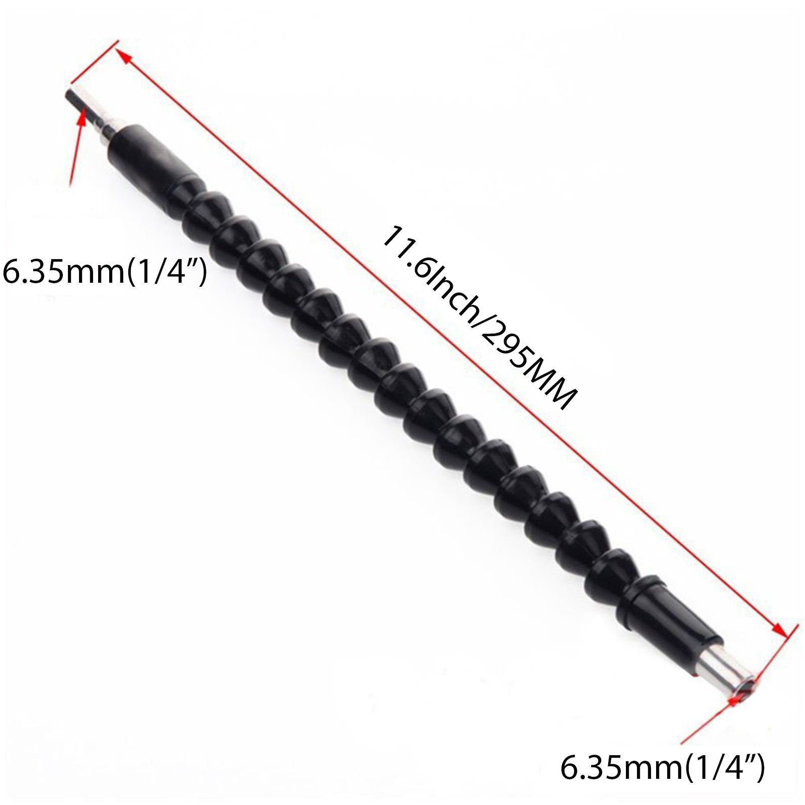 MiLanNuo Flexible Shaft Drill Bit Extension Holder Connecting Link 12'' Cobra Bit Black by MiLanNuo (Image #8)