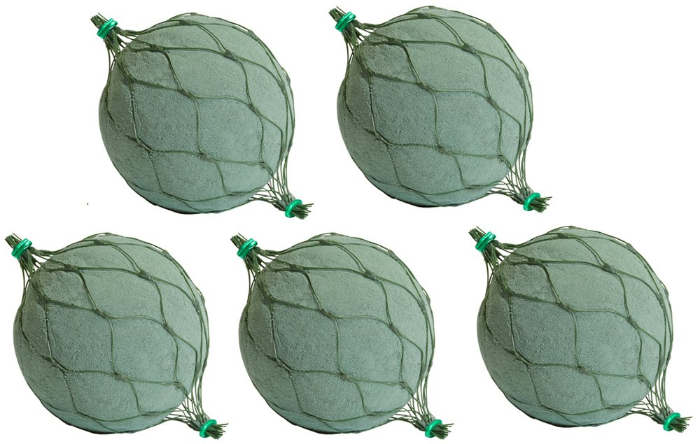 Oasis 4.5 Netted Floral Foam Spheres Maxlife Pack of 5 Smithers-Oasis SO-7704N-P5