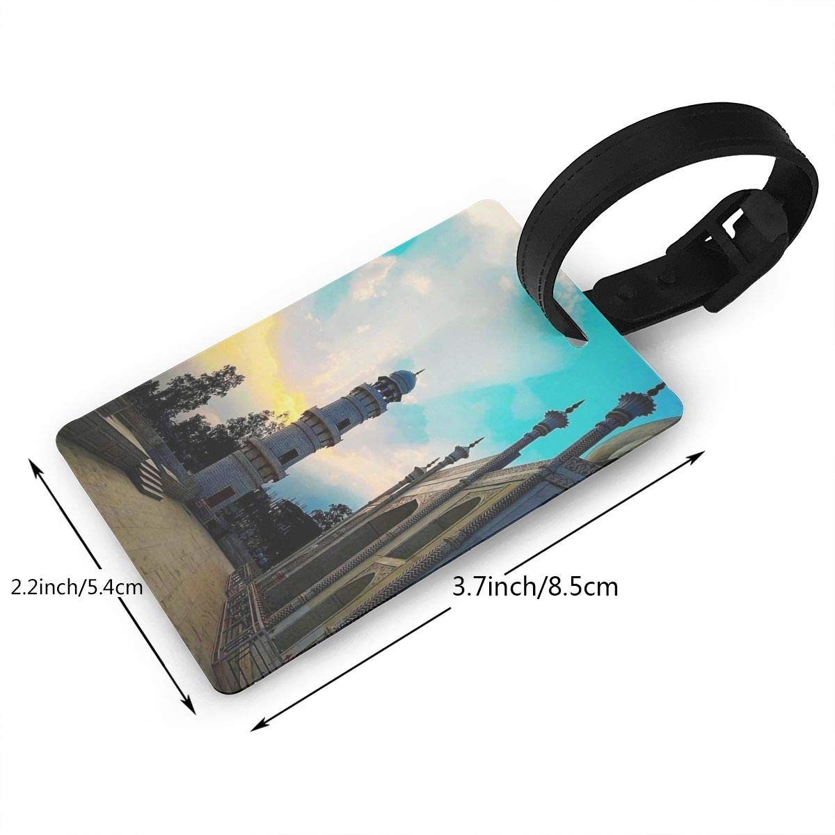 Taj Mahal Baggage Tag For Travel Tags Accessories 2 Pack Luggage Tags