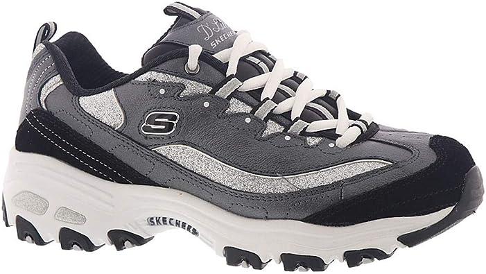 Skechers 13155WSL D'Lites Glimmer Eve Damen Sneaker weiß XSYhs