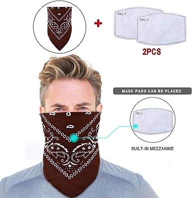 2 Pcs Face Cover Bandanas Balaclavas Neck Gaiter Face Scarf Anti Dust for Outdoor Sports