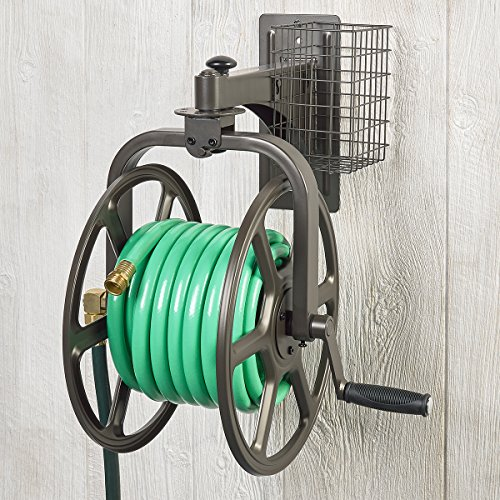 Liberty Garden Products 712 Single Arm Navigator Multi-Directional Garden Hose Reel, Bronze