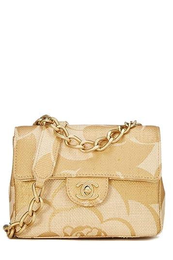 e7042053cc CHANEL Natural Raffia Half Flap Mini (Pre-Owned)  Handbags  Amazon.com