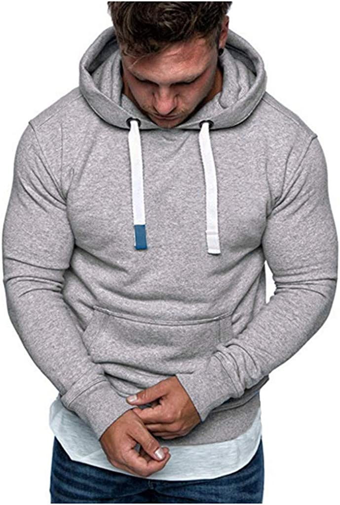 Eoeth Men/'s Long Sleeve Warm Outwear Winter Casual Hooded Sweatshirt Hoodies Drawstring Pocket Top Blouse Tracksuits