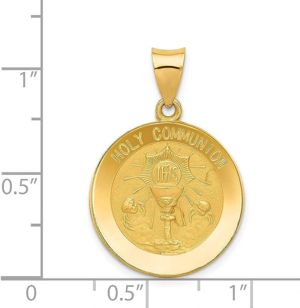 14k Yellow Gold Communion Religious Pendant Charm