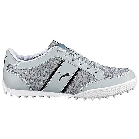 5c3c2f5717eb PUMA Golf Women s Monolite Cat Mesh Quarry White Black Sneaker 10.5 B (M)   Amazon.ca  Sports   Outdoors