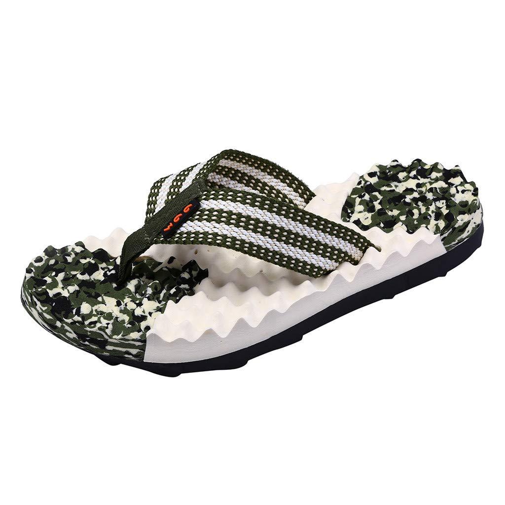Naladoo Men's Beach Flip Flops Flat Sandals Summer Outdoor Camouflage Slippers
