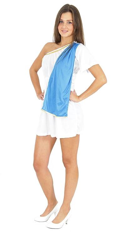 Foxxeo Sexy Traje Antiguo Traje de Mujer Romana Vestido ...