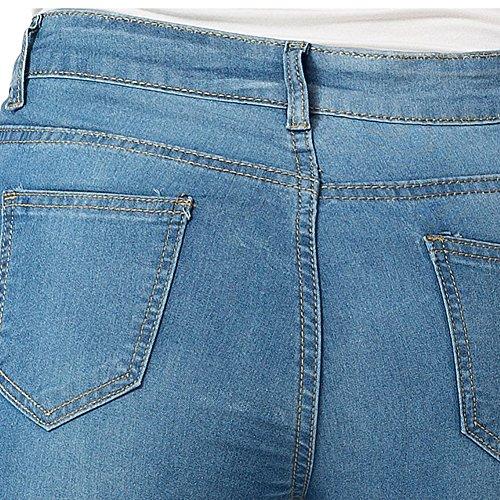 ZhuiKunA Bleu Jean Femme Skinny Stretch Taille Haute Super Basique Slim Legging Saphir qBxqZwTPr