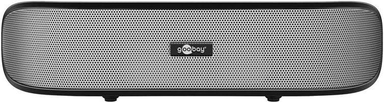 Goobay 95041 Soundbar 6 W Altavoces estéreo para PC, TV y portátil, negro