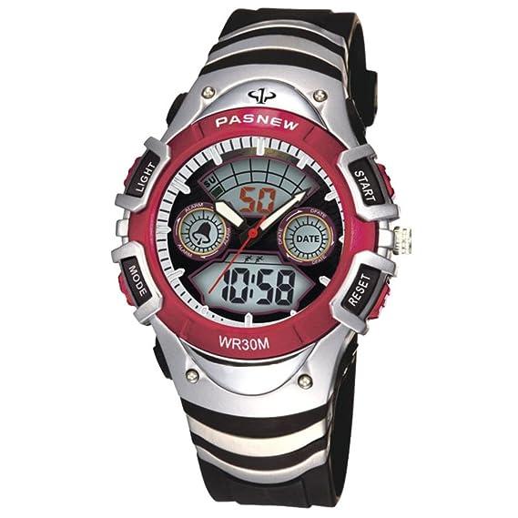 Mens reloj digital estudiantes masculinos y femeninos relojes deportivos impermeables-B: Amazon.es: Relojes