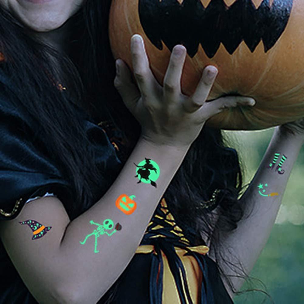 Ardorlove Pegatinas De Tatuajes Brillantes De Halloween Juguetes ...