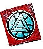 Handmade Leather Iron-man Arc Reactor Wallet