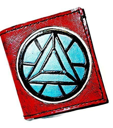 Handmade Leather Iron-man Arc Reactor Wallet by World of Leathercraft
