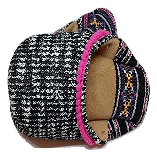 Knit Summer Closed Toe Women's Dearfoams Scuff Black f1Ewzxq