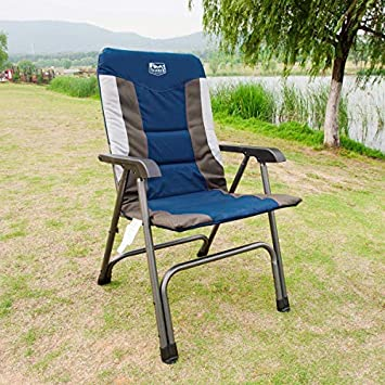 Timber Ridge Camping Folding Chair High Back Portable with Carry Bag Easy Set up Padded for Outdoor,Lawn, Garden, Lightweight Aluminum Frame, Support 300lbs