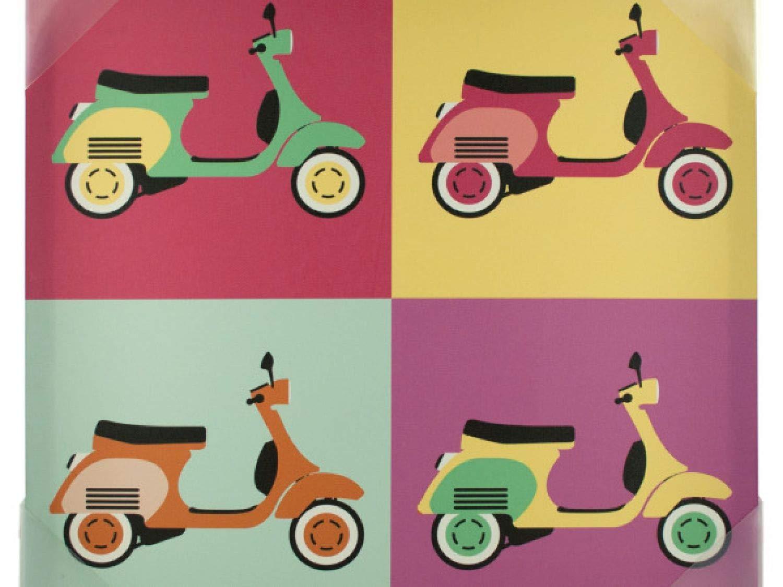 StarSun Depot Vintage Scooters Pop Art Canvas Wall Art - Set of 8