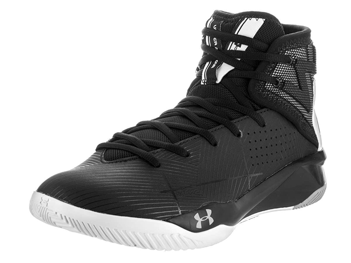 Under Armour Armour Under UA Rocket 2, Chaussures de Basketball Homme 47.5 EU|Black/ White/ Black 891eed