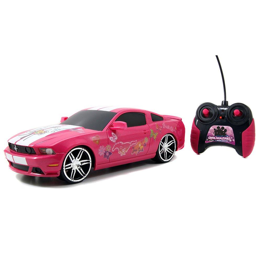Jada Toys Girlmazing 1:16 R/C Assortment 2012 Ford Mustang Boss 302- M. Vehicle, Hot Pink