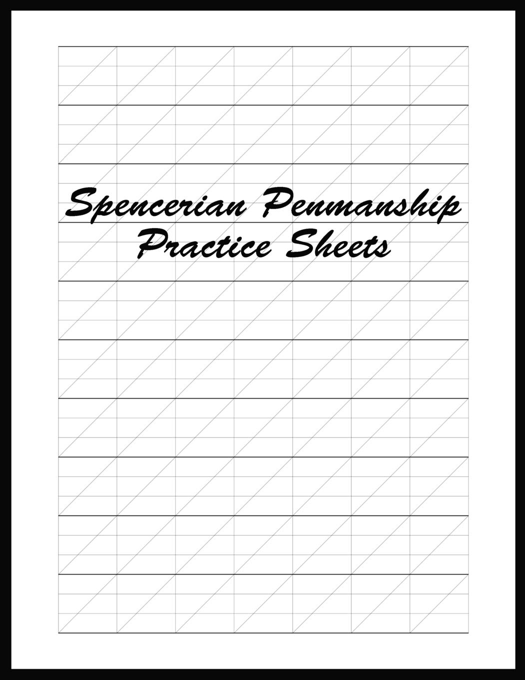 Spencerian Penmanship Practice Sheets: Perfect Cursive and Hand ...