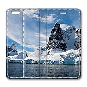 iPhone 6 Plus Case, Fashion Customized Protective PU Leather Flip Case Cover View Of A Mountain Lake for New Apple iPhone 6(5.5 inch) Plus
