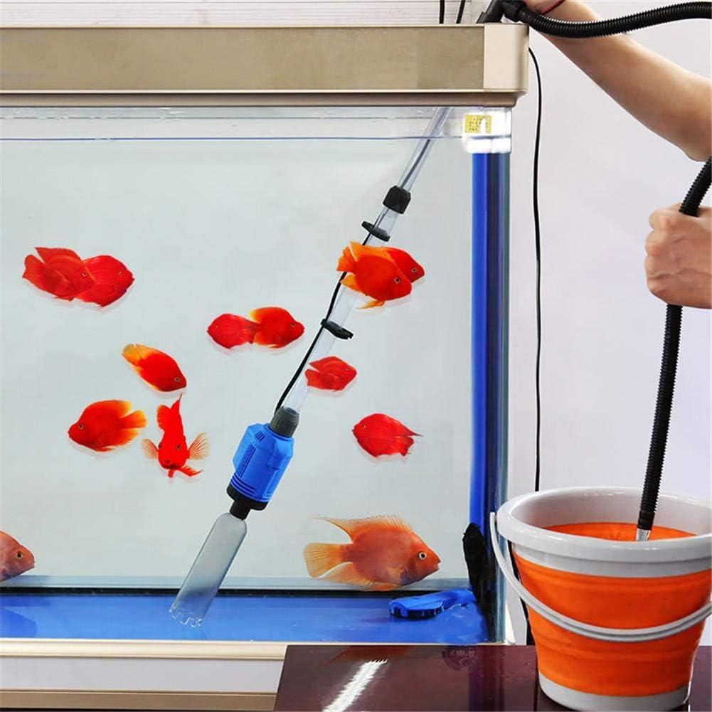 Aquarium Fish Tank Gravel Sand Cleaner 16w Electric Fish Tank Vacuum Cleaner with Telescopic Sleeve Aquarium Gravel Cleaner Kit 1.6M Maximum Lift