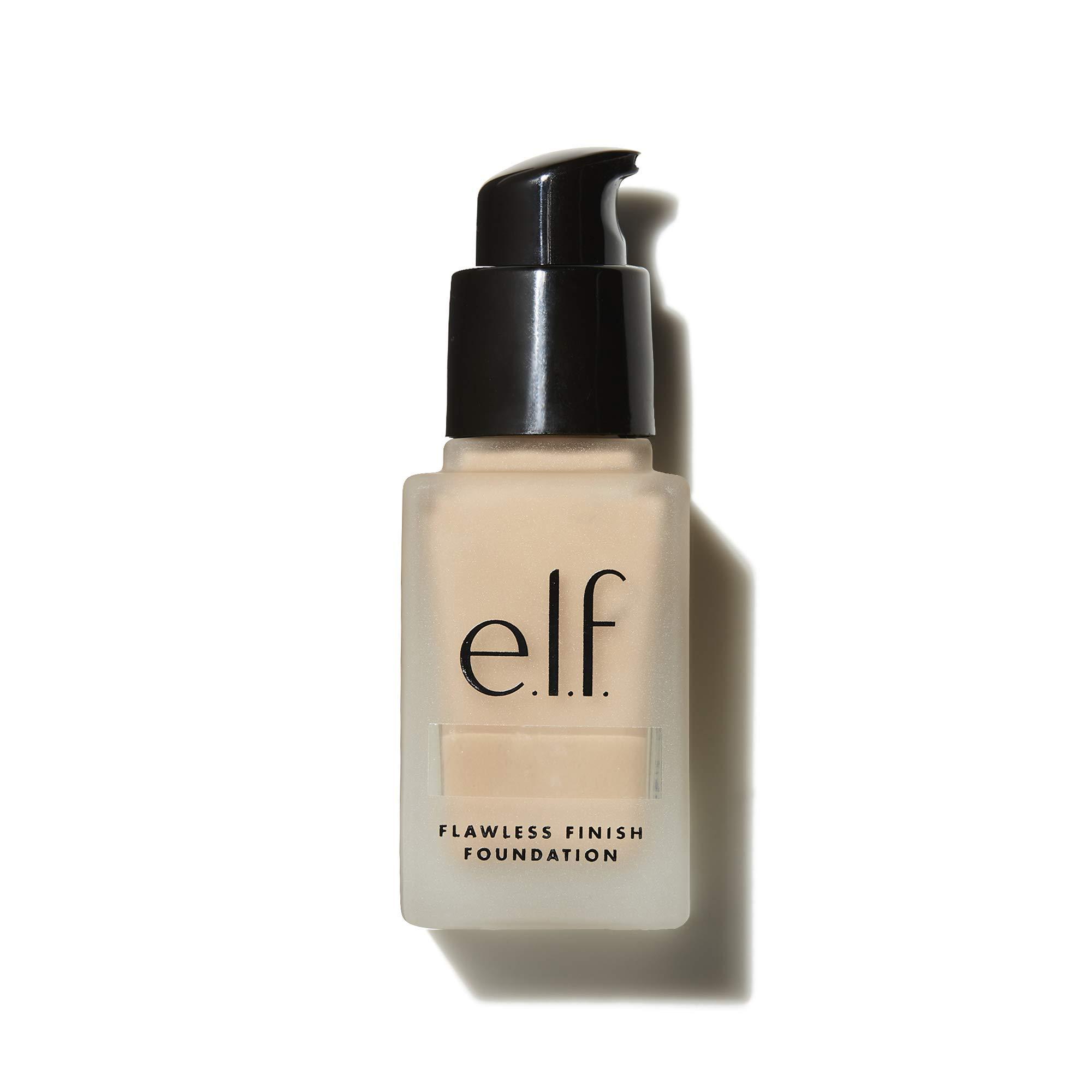 e.l.f. Flawless Finish Foundation   Lightweight, Medium Coverage & Semi-Matte   Beige   0.68 Fl Oz (20mL)