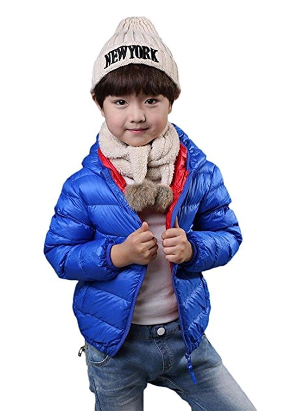 Dingang Unisex Boys Girls Light Weight Puffer Down Jacket Hoodie Coats