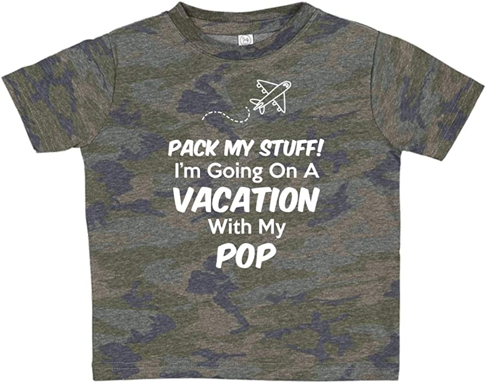 Im Going On Vacation with My Pop Toddler//Kids Short Sleeve T-Shirt Pack My Stuff