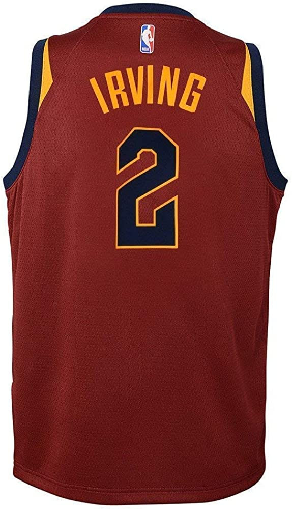 Nike Kyrie Irving Cleveland Cavaliers NBA Boys Youth 8-20 Burgundy Red Road Swingman Jersey