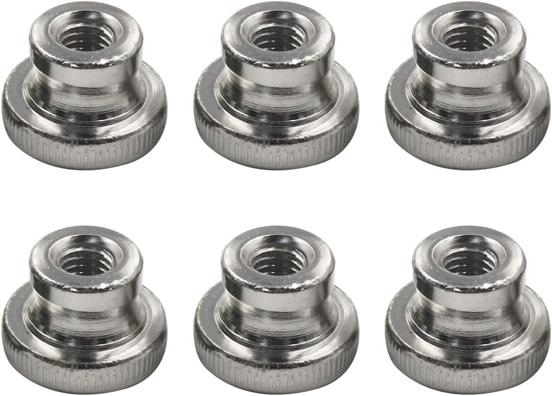 Zinc Plating,Round Thumb Nut,Pack of 10 Yoohey Knurled Thumb M4 Knurled Nut with Collar
