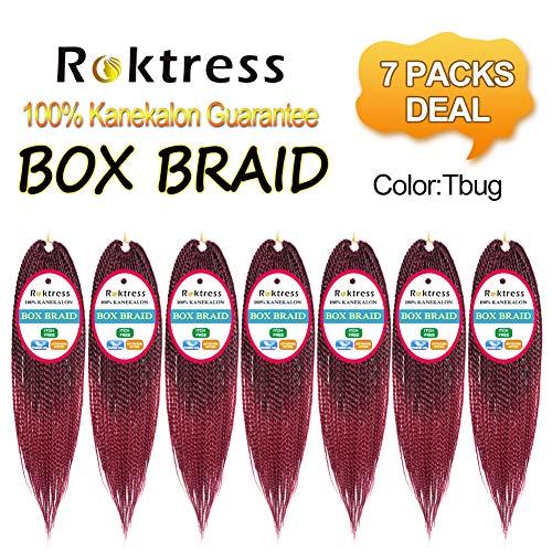 Roktress Box Braid Hair Crochet Box Braids 100% Kanekalon Synthetic Braiding Hair (14