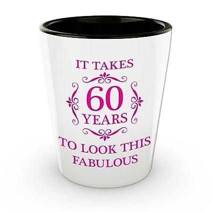 60th Birthday Shot Glass