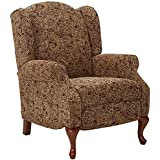 Ashley Furniture Signature Design - Nadior Recliner Chair - Manual Reclining - Classic Style - Paisley Brown Pattern