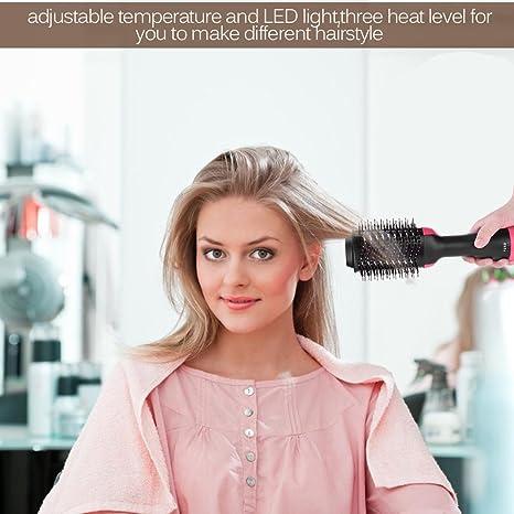 Amazon.com: Peine rizador de pelo, 2 en 1 secador de pelo y ...