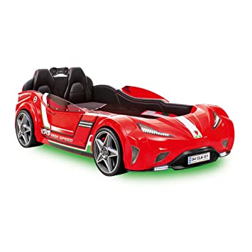 cilek kids room champion racer collection gti car bed with mattress red