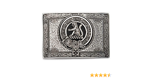 USA Kilts MacPherson Clan Crest Belt Buckle Made in Scotland