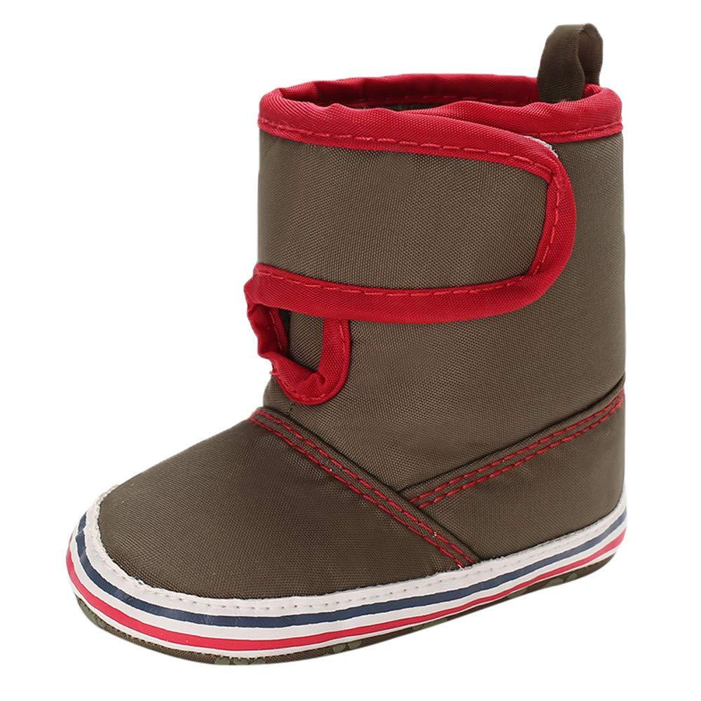 XUANOU Infant Newborn Baby Boys Girls Cashmere Winter Boots Prewalker Warm Shoes