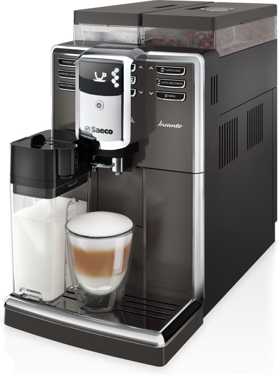 Saeco Incanto HD8919/59 - Cafetera (Independiente, Máquina espresso, 2,5 L, Molinillo integrado, 1850 W, Negro, Metálico): Amazon.es: Hogar