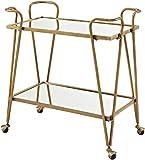 Linon AMZN0215 Gina Mid-Century Gold Bar Cart