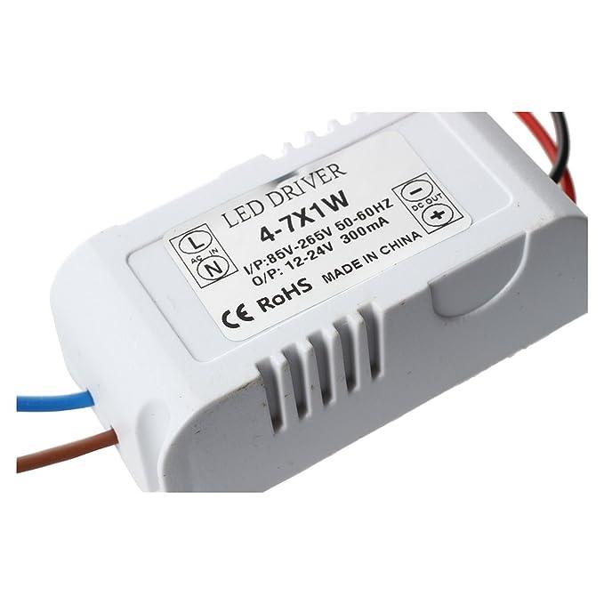 Transformador Constante 4-7W Conductor de Transformador de LED Fuente de alimentacion DC12-24V Durable LED Transformador TOOGOO R