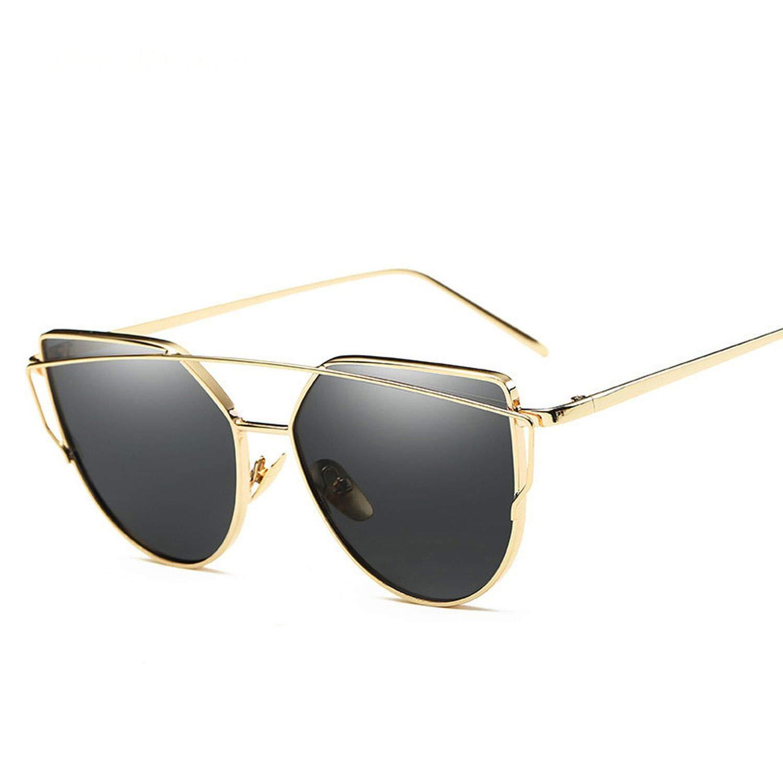Amazon.com: Cat Eye Vintage Brand Designer Rose Gold Mirror ...