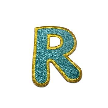Komplettes Alphabet einzeln auswählbar Buchstaben Aufnäher//Aufbügler bunt