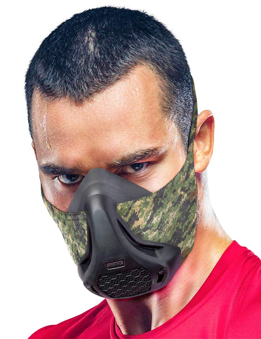 Sparthos Training Mask High Altitude Mask – for Gym Workouts, Running, Cycling, Cardio, Elevation - Fitness Training Mask - Hypoxic Resistance Mask 2 3 – Lung Exercise [+Case]